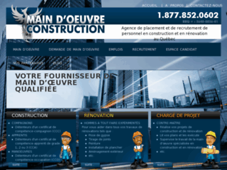 Détails : Main d'oeuvre construction inc. - Agence de placement en construction